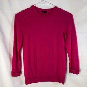 J Crew XS Sweater Pink Wool 99986 1038
